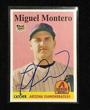 MIGUEL MONTERO 2007 TOPPS HERITAGE AUTOGRAPHED SIGNED AUTO BASEBALL CARD 445 DIA