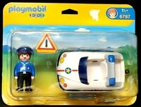 Playmobil 1-2-3 Police Car Policeman 3-Piece Set #6797 Ages 1 1/2+  NEW & SEALED
