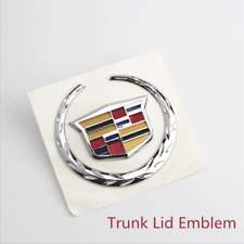 Silver Cadillac Nameplate Car Auto Rear Trunk Lid Emblem Badge for XTS 2007-2014