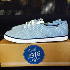 Keds Girls Shoes Junior Sneakers Kids Light Blue Footwear Size 6M