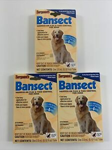 Sergeants Bansect Flea & Tick Squeeze-On For Dogs Over 33 lb (3 Packs )