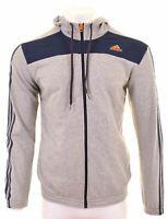 ADIDAS Mens Hoodie Sweater Medium Grey Cotton  CR05