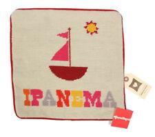 JONATHAN ADLER Ipanema Travel Sailboat Resort Needlepoint Pillow Case New