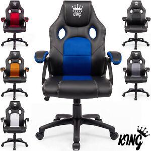 MIDORI® Racing Gamingstuhl Bürostuhl Chefsessel Schreibtischstuhl Drehstuhl
