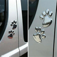 2X 3D Bear Dog Animal Paw Foot Print Car Window Bumper Body Decal Sticker Emblem