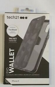 Tech21 Evo Wallet Protective Case Cover with Card Storage for iPhone X