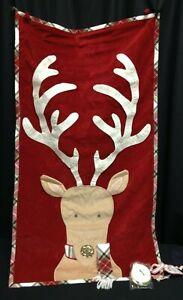 PB x pbk Pottery Barn Kids Classic Velvet Reindeer Advent calendar countdown NEW