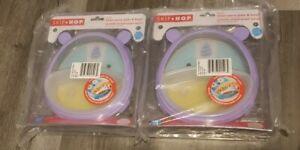Lot of 2 Skip Hop Zoo Smart Serve Plate Bowl Unicorn 3 Piece Training New 252231