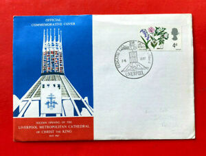 UK FDC - 1967 - Opening of Liverpool Metropolitan Cathedral of Christ the King