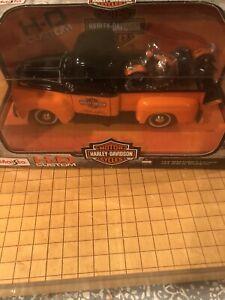 Maisto Hd 1948 Ford F-1 Pick Up '48 Panhead Harley Davidson 1:24 Orange & Black