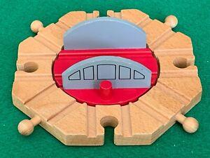 8 way TURNTABLE for THOMAS & FRIENDS WOODEN RAILWAY TRAIN ENGINE SET & BRIO
