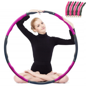 Fitness Weighted Hula Hoops for Adults Fitness & Weight Loss Exercise 8 Section