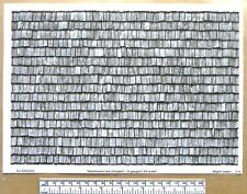 """G gauge (1:24 scale) """" Wood shingles - weathered"""" """" -  paper- A4 sheet"""