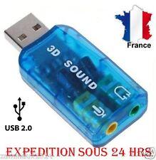 Adaptateur USB CARTE SON 3D 5.1 AUDIO MICRO CASQUE