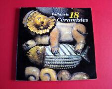 VALLAURIS 18 céramistes - catalogue d'exposition Capron Derval Madoura Portanier