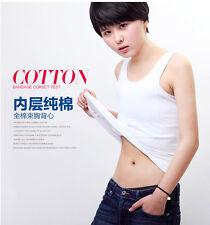 cotton lesbian Undershirt Flat Slim long Vest  Les corset Chest/Breast Binder