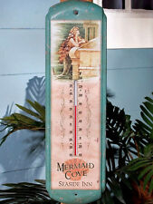 Mermaid Cove Seaside Inn LARGE Thermometer Vintage Style Nautical Beach Decor