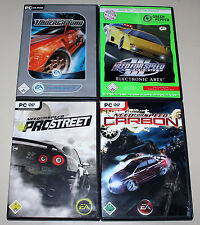 4 PC SPIELE BUNDLE - NEED FOR SPEED CARBON UNDERGROUND HOT PURSUIT PRO STREET