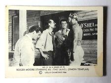 "1966 Roger Moore as ""The Saint"" Somportex Trading Card #8 from Denmark/UK"