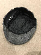 Tom Franks Mens Textured Flat Cap, Grey. Size M/L. New