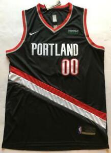 Black Color Carmelo Anthony Trail Blazers #00 Jersey