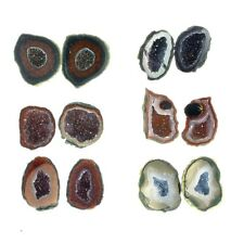 Fantasia: Wholesale Lot of 100 Pairs of Tabasco Geodes - Jewelry Making Supplies