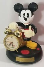 Walt Disney Mickey Mouse Animated Talking Alarm Clock -Tested