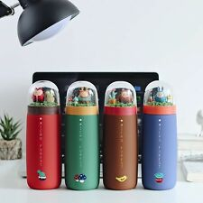 Micro forest insulated water bottle thermos vacuum flasks keep warm and cold