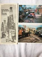 Vtg East Texas Oil Museum Flyer Post Cards Lot
