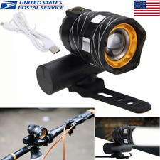 USB Rechargeable XML T6 LED Bicycle Bike Light Front Cycling Light Head Lamp US
