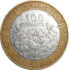 Central African State BEAC 100 Francs CFA 2006 KM#15 (A-15) bimetal