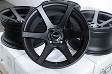 15x8 Matt Black Rims Wheels 4x100 Fit Toyota Mr2 Nissan Sentra Versa Cooper (4)