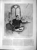 Old Antique Print 1897 Cecil Rhodes South Africa Cathedral Saviours Wales 19th