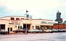 Photo. 1960s. Roseville, California.  Braden Pontiac-Cadillac - Auto Dealership