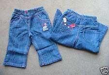 BNWT NEXT Applique Bunny Blue Denim Jeans 6-9 Months