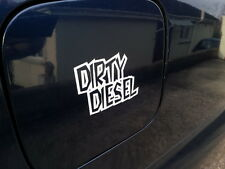 2x Dirty Diesel , funny quality vinyl stickers / Decals for Car or Van 12 colors