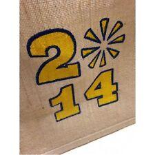 More details for printed jute small shopper bags 30 x 30 x 20cm choose qty