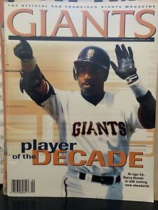 1998 San Francisco SF Giants Magazine Barry Bonds September