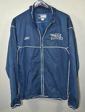 Long Beach Ice Dogs Windbreaker Jacket LARGE Reebok Blue Minor Hockey Defunct
