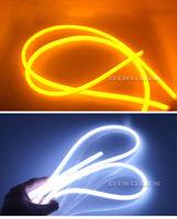 2x 60cm Flexible Soft Tube LED Strips DRL Orange Amber Indicator Fog Lights AU