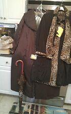 Dennis basso QVC 4 pc set 2 coats 3X inner leopard print, faux fur hat, umbrella