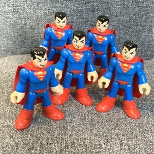 """5PCS Fisher-Price Imaginext Superman 3""""  Comics Figure Super Hero Squad Toys"""