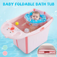 Kids Baby Bath Tub Infant Bathtub Foldable Multifunction Laundry Tub Anti-slip
