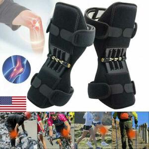 Support Brace Knee Pads Booster Lift Squat Sport Power Rebound Spring Force 2Pcs