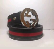 Mens Gucci Belt - red green and black ( canvas)