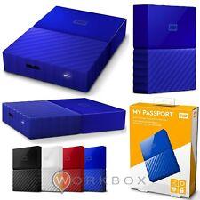 WD 3TB My Passport Hard Disk Esterno Portatile USB 3.0 Blu WDBYFT0030BBL-WESN