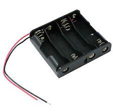 AA X 4 aperto Batteria Holder Box 15cm wire