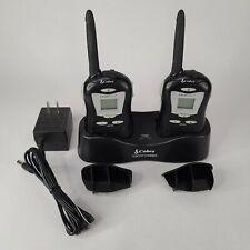 Pair of Cobra Clear Call FRS 80 Walkie Talkies 2 Way Radio w/Charging Dock FA-CT
