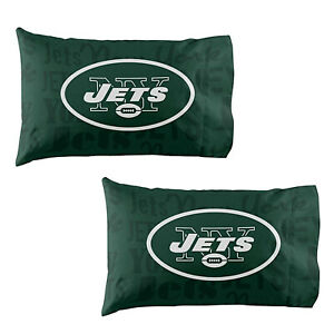 Football New York Jets Pillow Case Covers 2 Pack officially Licensed