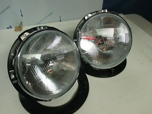 ESCORT MK1, H4 WIPAC QUADOPTIC HEADLIGHT / LAMPS WITH SIDELIGHTS, MEXICO,RS,AVO,